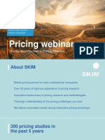 SKIM October 2015 Pricing Webinar