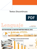 Power Point Textos Discontinuos