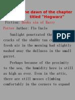 Harry potter_Book of evil-machine translated 0-20
