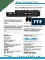 Newmar Circuit Breaker Distribution Panel