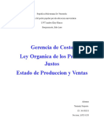 Costo, Ley, Estado de Produccion 1