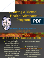 Crafting Mental Health Advocacy Programs Dr. Atay-1