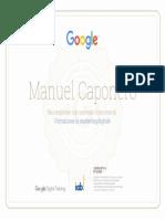 Certificato Google