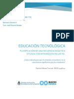 Educación Tecnológica. Secuencia didáctica integrada con TIC