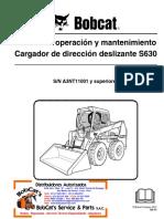 Manual de Operación Mantenimiento s630 Español