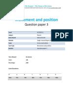 2.3- Movement and Position 2p - Edexcel Igcse Physics Qp