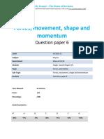3.6- Forces Movement Shape and Momentum 2p - Edexcel Igcse Physics Qp