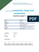 3.5- Forces Movement Shape and Momentum 2p - Edexcel Igcse Physics Qp