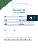 25.1 - Radioactivity 1p - Edexcel Igcse Physics Qp