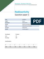 25.2 - Radioactivity 1p - Edexcel Igcse Physics Qp