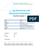 15.1 - Energy Resources and Electricity Generation 1p - Edexcel Igcse Physics Qp