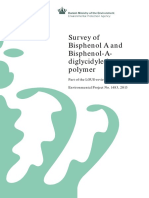 Danish Ministry of the Environment - Survey of Bisphenol a and Bisphenol-Adiglycidylether Polymer - 978-87-93026-14-8