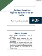 1. Colecta de Los Datos Registro de La Muestra de Habla