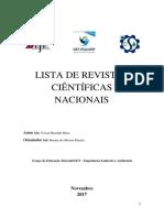 Revistas Nacionais Área Ciências Ambientais