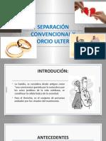 Separación Convencional y Divorcio Ulterior