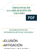 Alternativas de Estabilización de Taludes