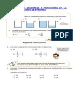 Conversion de Decimales a Fracciones en La Clase