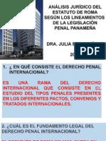 Análisis Sobre El Estatuto de Roma y El Código Penal Panameño