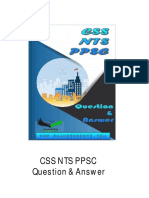 CSS  NTS  PPSC  Question and Answer