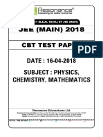 Date 16 Jee Mains Paper
