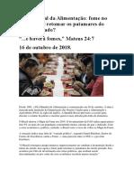 Dia Mundial da Alimentação, A fome no Brasil pode retomar os patamares do século passado_16Out.2018.docx