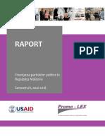 Raport Finantarea Partidelor Semestrul I 2018