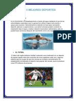 Los 5 Mejores Deportes