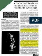 Fernandez L El Analisis Institucional en Los Espacios Educativos