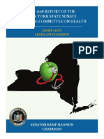 Preliminary 2017-2018 Report of the New York State Senate Standing Committee on Health