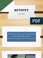 Speech Style Activity Edited