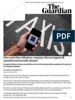 Uber and other rideshare company driver...lly abused | Technology | The Guardian