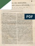 1839 Diario de Debates Del Senado