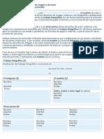 Acuerdo de Cesion de Derechos de Imagen y de Autor Para Trabajos Fotograficos de Intercambio