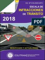 Escala de Infracciones 2018 07set