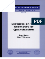 Bates,Weinstein Lectures on the Geometry of Quantization (American Mathematical Society)
