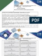 Guia de Actividades y Rúbrica de Evaluación Paso 1 - Identificar Las Herramientas Básicas Para Programar