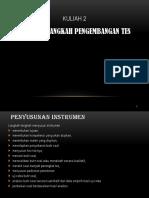 Langkah Pengembangan Tes