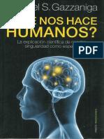 Gazzaniga Que Nos Hace Humanos(2)