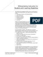 instructions for disabilities student