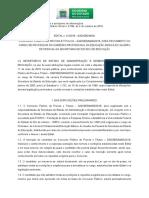 Edital Concurso SED/MS 2018