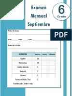 Examen Septiembre 6 Grado (2018-2019)