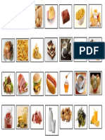 Food and Drinks Cards Flashcards Fun Activities Games