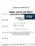 Vaslov Vz -Beas,Plates and Shels on Elastic Fundations-1966NASA -19670004909