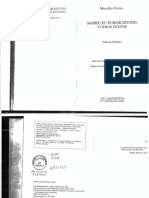 Ficino, Marsilio, Sobre El Furor Divino y Otros Textos