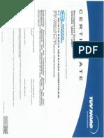 Certificate OHSAS 18001 2007