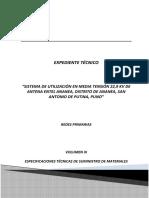 Especificaciones Tecnicas de Suministro de Materiales Rev 006