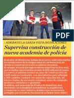 24-10-18 Supervisa construcción de  nueva academia de policía
