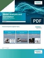 Experimental Modal Analysis and Correlation With FEM (LMS Test.lab Siemens)