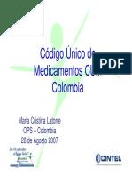Codigo Cum en Colombia