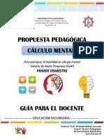 Propuesta Pedagogica Calculo Mental